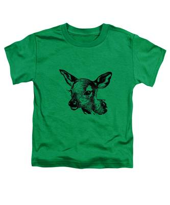 Deer On Burlap Toddler T-Shirt