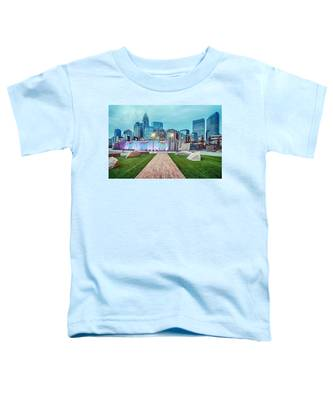 Charlotte City Skyline In The Evening Toddler T-Shirt