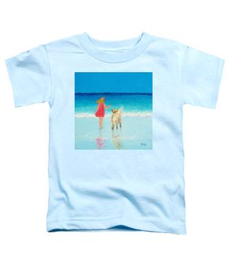 Beach Painting 'sunkissed Hair'  Toddler T-Shirt