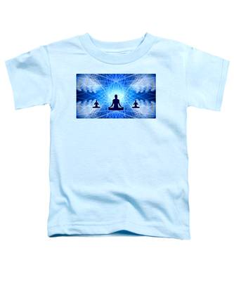 Toddler T-Shirt featuring the digital art Cosmic Spiral Ascension 22 by Derek Gedney