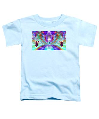 Toddler T-Shirt featuring the digital art Cosmic Spiral Ascension 71 by Derek Gedney