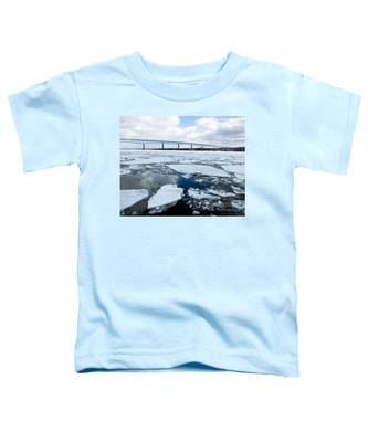 Rhinecliff Bridge Over The Icy Hudson River Toddler T-Shirt