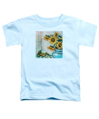 Sunflowers And Frog Toddler T-Shirt