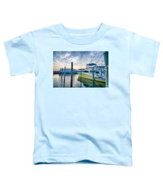 View Of Sportfishing Boats At Marina Toddler T-Shirt