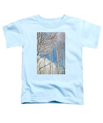 Cloudy Aspen Sky Toddler T-Shirt