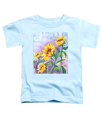 Sunny Sunflowers Toddler T-Shirt
