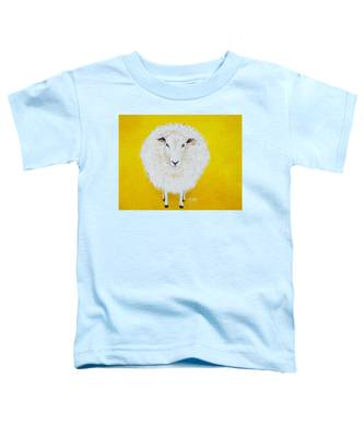 Sheep Painting On Yellow Background Toddler T-Shirt