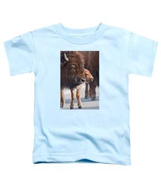 Bison And Calf Toddler T-Shirt