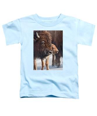 Bison Family Toddler T-Shirt