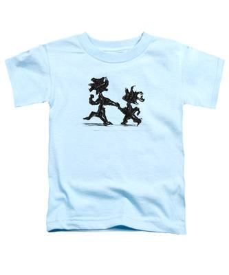 Toddler T-Shirt featuring the painting Dancing Couple 6 by Manuel Sueess