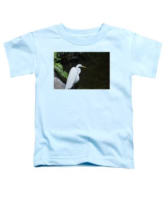 Great White Egret Toddler T-Shirt