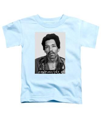 Jimi Hendrix Mug Shot Vertical Toddler T-Shirt