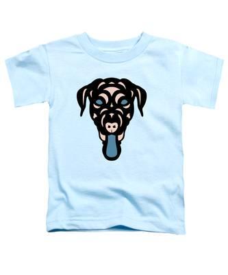 Labrador Dorianna - Dog Design - Island Paradise, Pale Dogwood,  Niagara Blue Toddler T-Shirt by Manuel Sueess