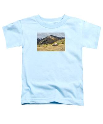 Log Barn In The Mountains Toddler T-Shirt