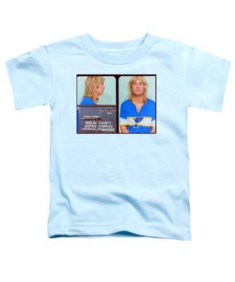 Ozzy Osbourne Mug Shot Color Horizontal Toddler T-Shirt