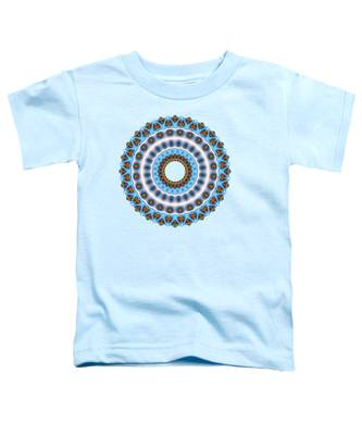 Peacock Fractal Mandala I Toddler T-Shirt