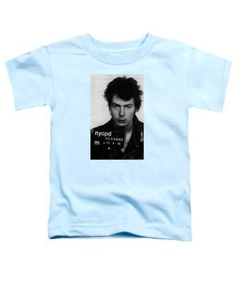 Sid Vicious Mug Shot Vertical Toddler T-Shirt