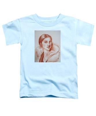 Sketch In Conte Crayon Toddler T-Shirt
