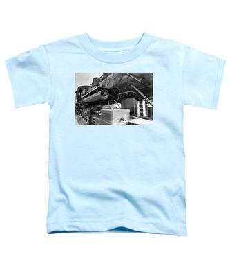 Steam Locomotive Side View Toddler T-Shirt