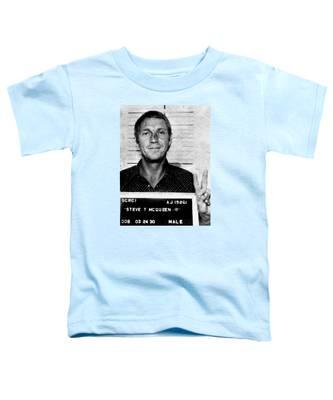 Steve Mcqueen Mug Shot Vertical Toddler T-Shirt
