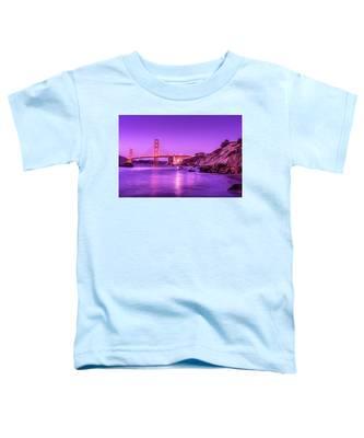 Golden Gate Bridge At Night Toddler T-Shirt