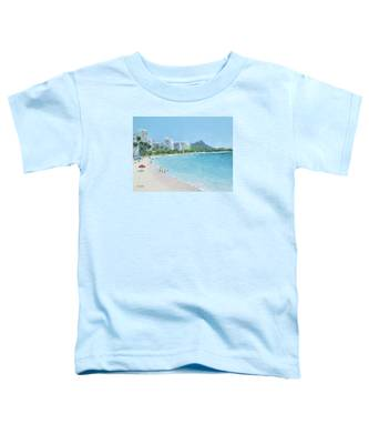 Waikiki Beach Honolulu Hawaii Toddler T-Shirt