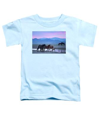 Wild Horse Sunrise Toddler T-Shirt