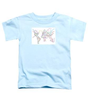 World Metro Tube Map Toddler T-Shirt
