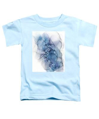 Blue Whispy 2 Abstract Painting Toddler T-Shirt