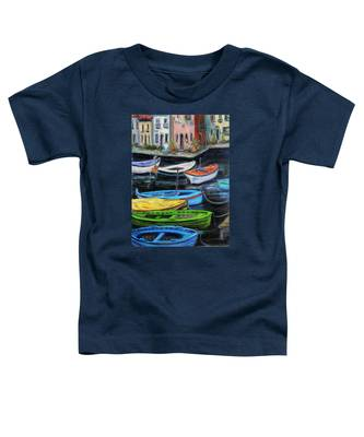 Boats In Front Of The Buildings II Toddler T-Shirt