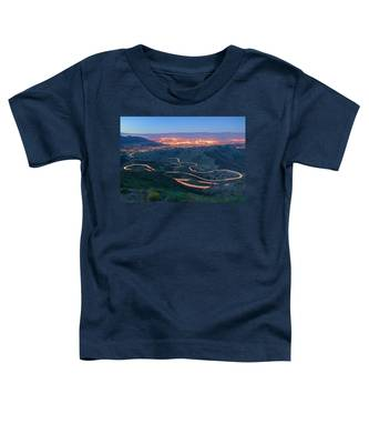 Highway 74 Palm Desert Ca Vista Point Light Painting Toddler T-Shirt