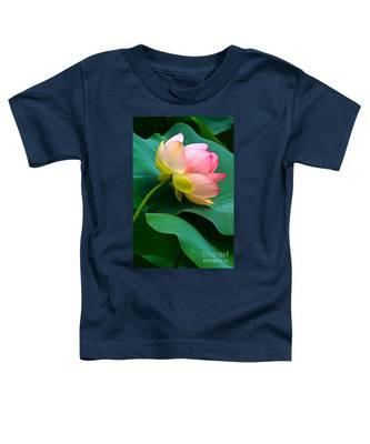 Lotus Blossom And Leaves Toddler T-Shirt