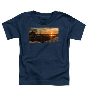Northport New York Winter Sunset Toddler T-Shirt