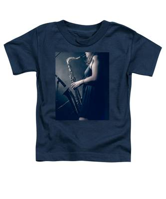 The Saxophonist Sounds In The Night Toddler T-Shirt