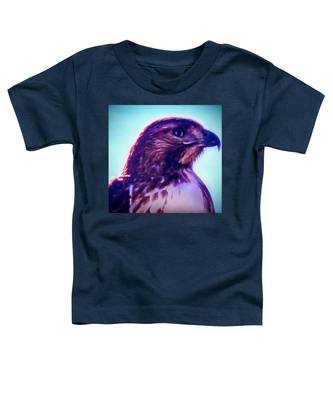 Toddler T-Shirt featuring the photograph Ak-chin Red-tailed Hawk Portrait by Judy Kennedy