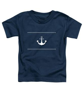 Anchor With Knot Border In White Toddler T-Shirt