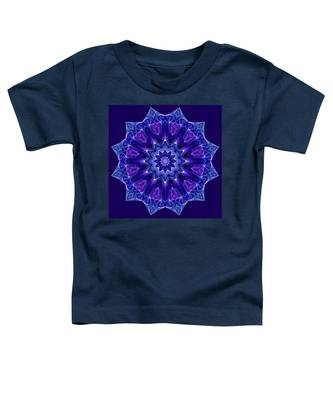 Blue And Purple Mandala Fractal Toddler T-Shirt