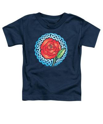 Celtic Rose Stained Glass Toddler T-Shirt