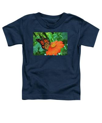 Monarch On Mexican Sunflower Toddler T-Shirt