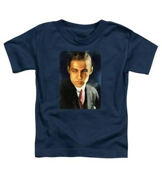 Portrait Of Rudolph Valentino Toddler T-Shirt