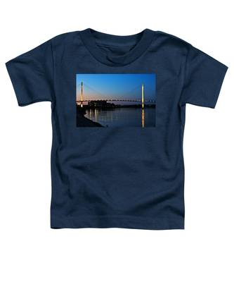 Sunset On The Bob Kerry Pedestrian Bridge Toddler T-Shirt