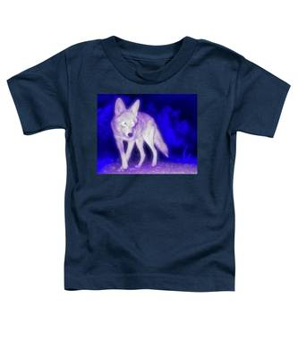 Coyote In The Garden Of The Ultraviolet Toddler T-Shirt by Judy Kennedy