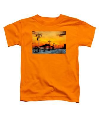Coney Island Winter Sunset Toddler T-Shirt