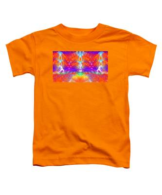 Toddler T-Shirt featuring the digital art Cosmic Spiral Ascension 53 by Derek Gedney