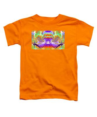 Toddler T-Shirt featuring the digital art Cosmic Spiral Ascension 60 by Derek Gedney