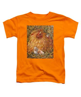 Hen And Chicks Toddler T-Shirt