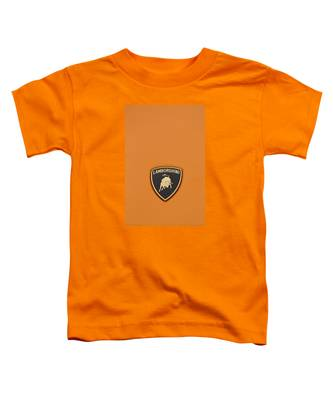 Lambo Hood Ornament Orange Toddler T-Shirt