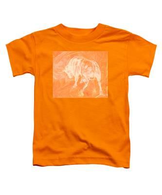 Orange Bull Negative Toddler T-Shirt