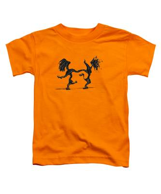 Toddler T-Shirt featuring the painting Dancing Couple 8 by Manuel Sueess