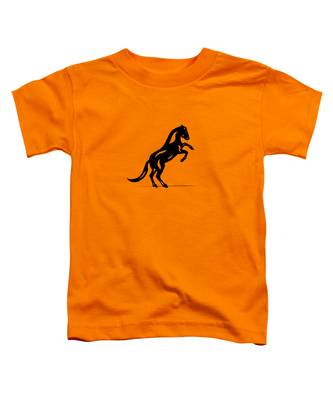 Toddler T-Shirt featuring the painting Emma II - Abstract Horse by Manuel Sueess